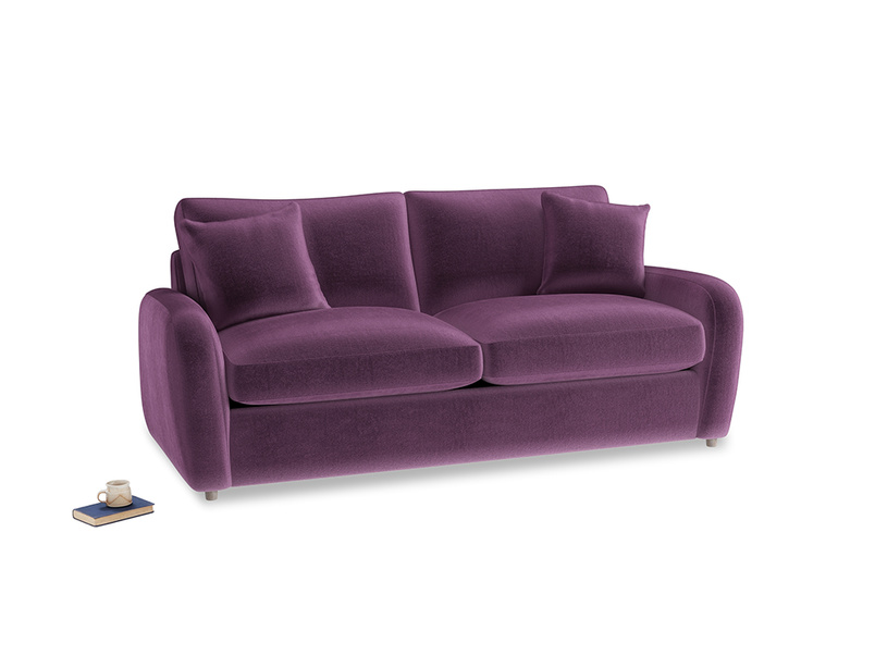 Medium Easy Squeeze Sofa Bed in Grape clever velvet