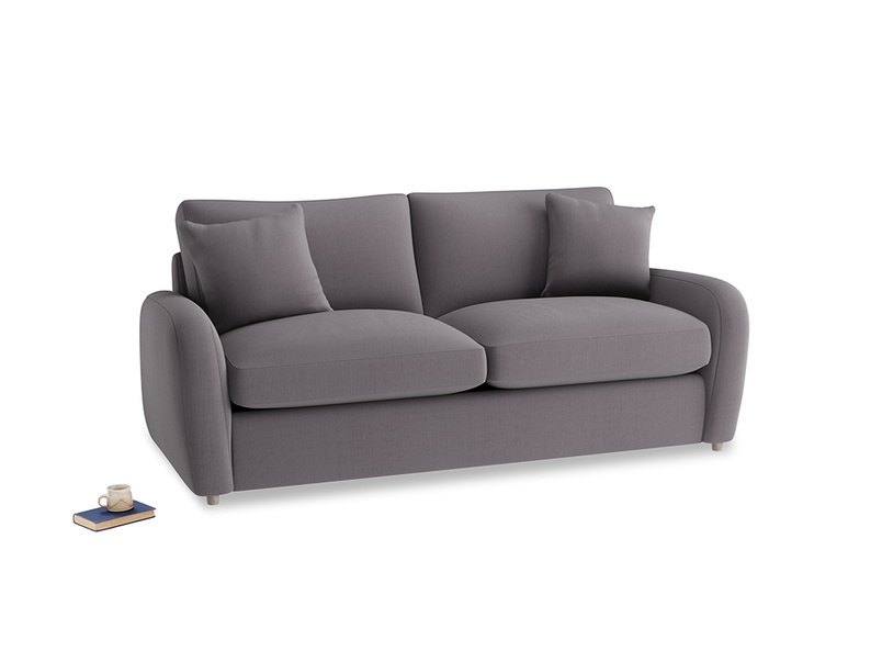 Medium Easy Squeeze Sofa Bed in Graphite grey clever cotton