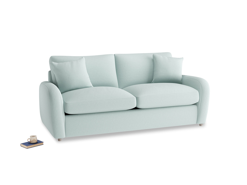 Medium Easy Squeeze Sofa Bed in Gull's Egg Brushed Cotton