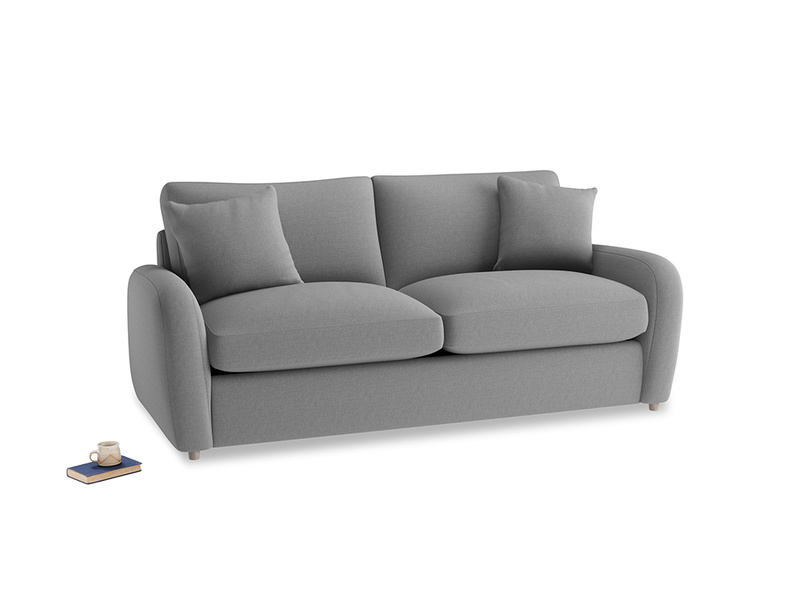 Medium Easy Squeeze Sofa Bed in Gun Metal brushed cotton