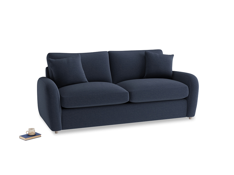 Medium Easy Squeeze Sofa Bed in Indigo vintage linen