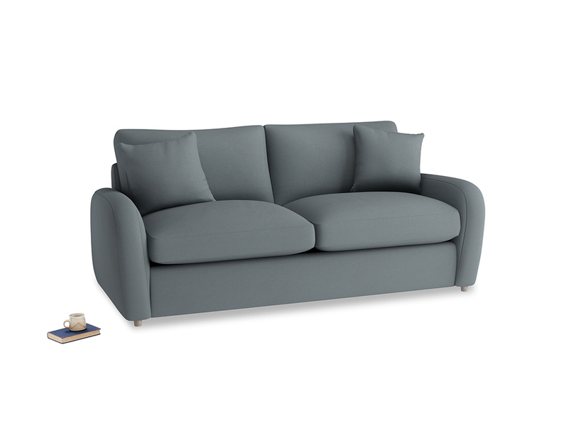 Medium Easy Squeeze Sofa Bed in Meteor grey clever linen