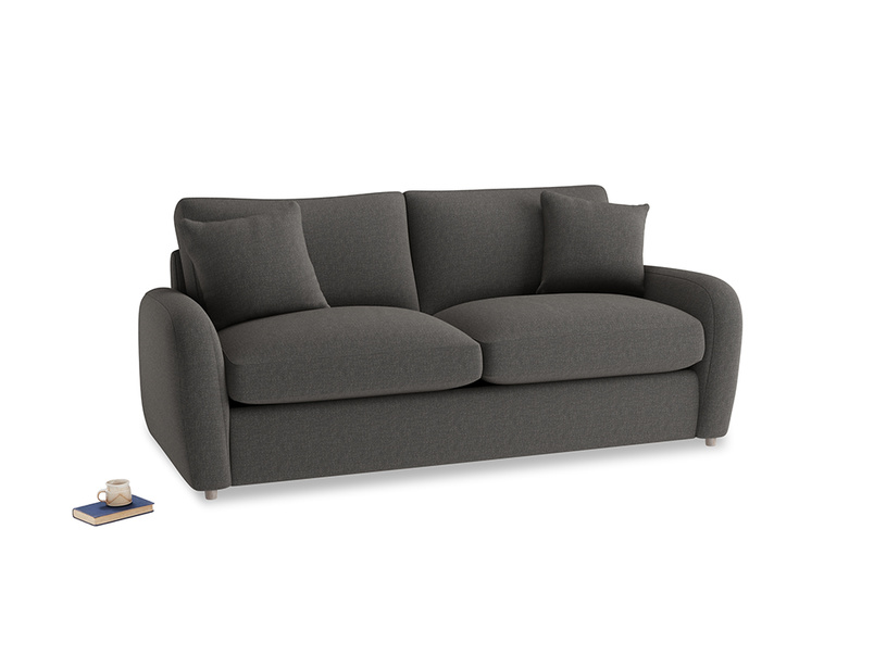 Medium Easy Squeeze Sofa Bed in Old Charcoal brushed cotton