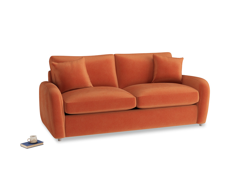 Medium Easy Squeeze Sofa Bed in Old Orange Clever Deep Velvet