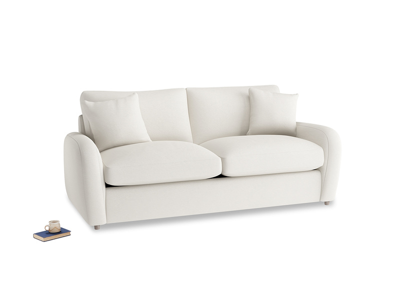 Medium Easy Squeeze Sofa Bed in Oyster white clever linen