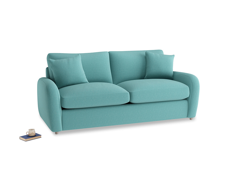 Medium Easy Squeeze Sofa Bed in Peacock brushed cotton