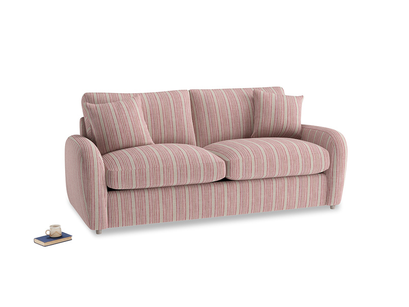 Medium Easy Squeeze Sofa Bed in Red french stripe