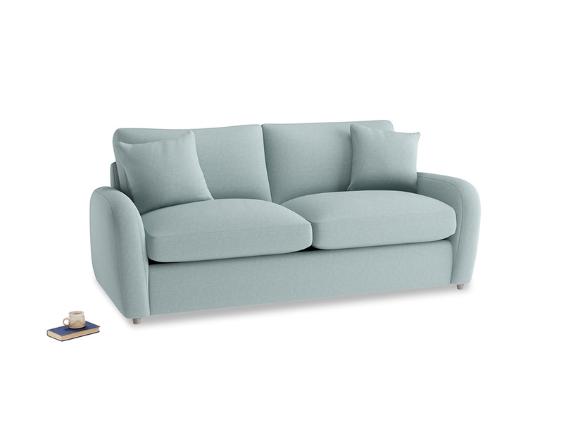 Medium Easy Squeeze Sofa Bed in Smoke blue brushed cotton