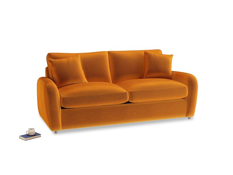 Medium Easy Squeeze Sofa Bed in Spiced Orange clever velvet