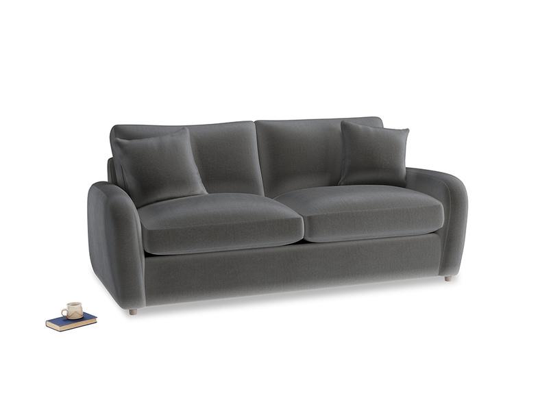 Medium Easy Squeeze Sofa Bed in Steel clever velvet