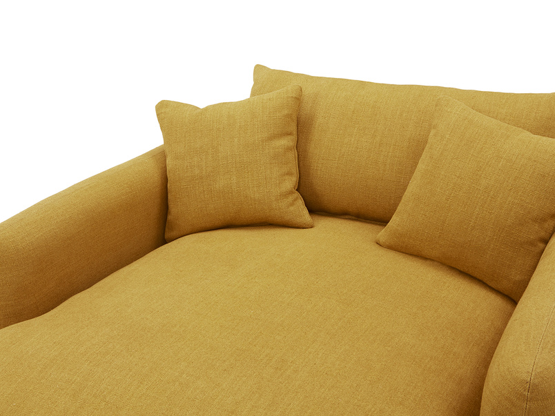 Squishmeister Love Seat Chaise cushion detail