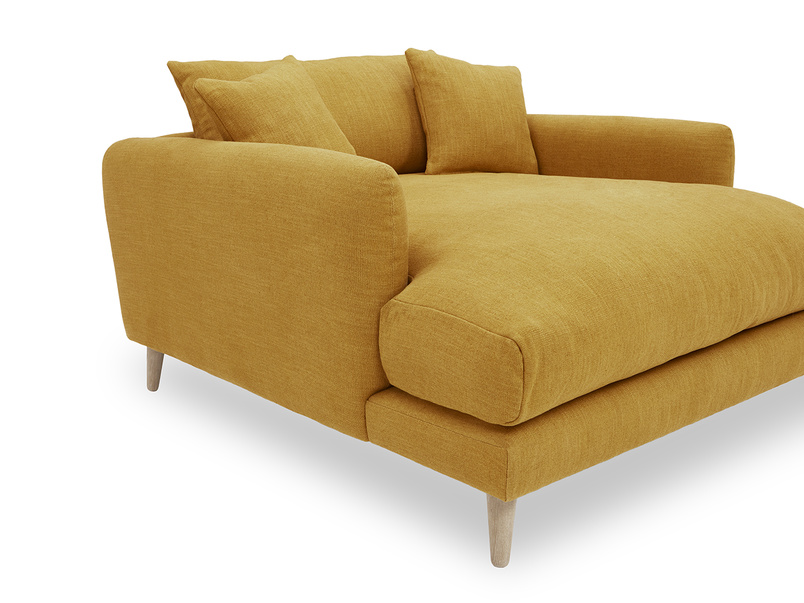 Squishmeister Love Seat Chaise side detail
