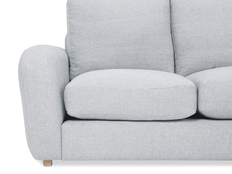 Easy Squeeze Comfy Chaise Sofa arm detail