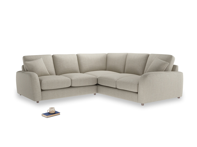 Even Sided Easy Squeeze Corner Sofa in Thatch house fabric