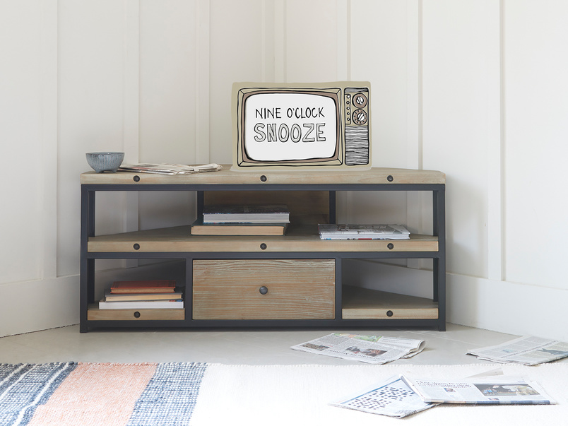 Corner Hercule Wooden TV Stand