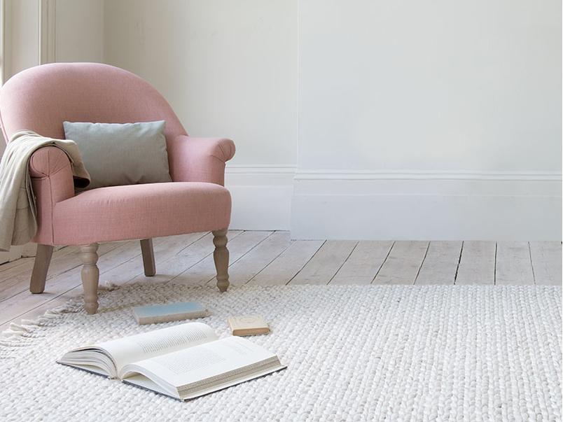 Chunkster chunky knitted floor rug