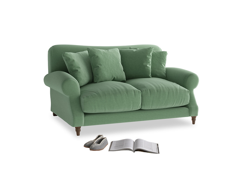Small Crumpet Sofa in Thyme Green Vintage Linen