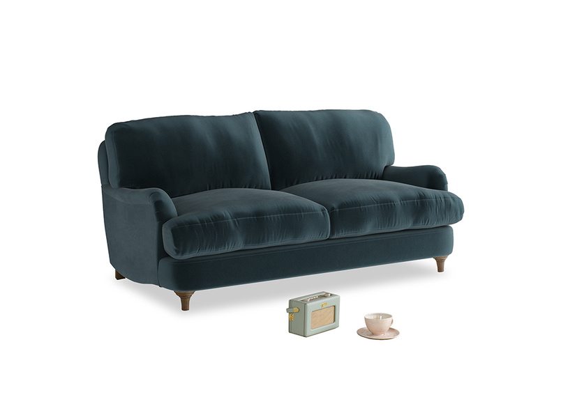 Small Jonesy Sofa in Bluey Grey Clever Deep Velvet