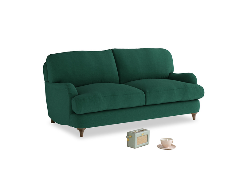 Small Jonesy Sofa in Cypress Green Vintage Linen
