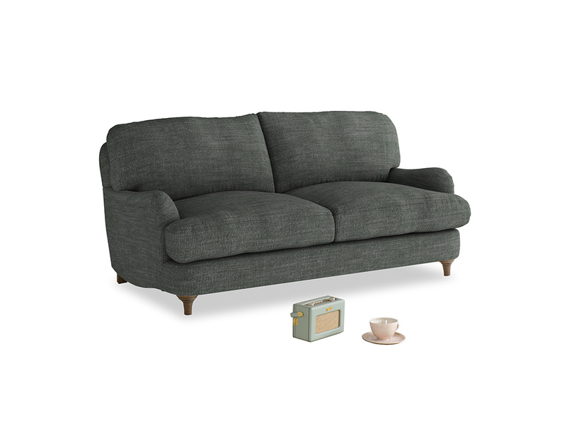 Small Jonesy Sofa in Pencil Grey Clever Laundered Linen