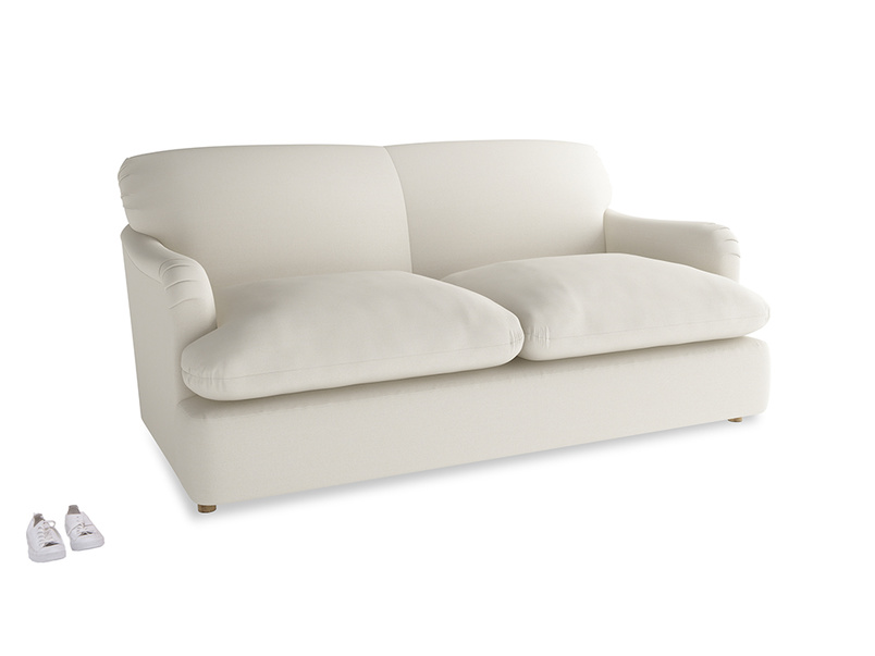 Medium Pudding Sofa Bed in Chalky White Clever Softie
