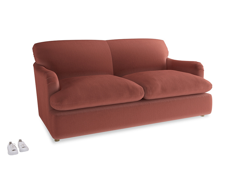 Medium Pudding Sofa Bed in Dusty Cinnamon Clever Velvet