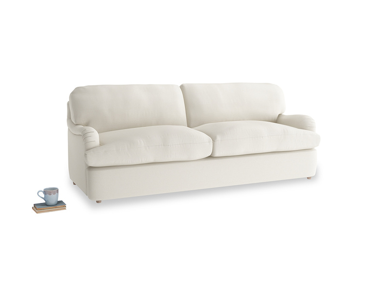 Large Jonesy Sofa Bed in Chalky White Clever Softie