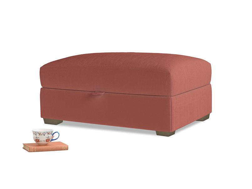 Bumper Storage Footstool in Dusty Cinnamon Clever Velvet