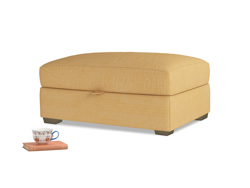Bumper Storage Footstool in Honeycomb Clever Softie