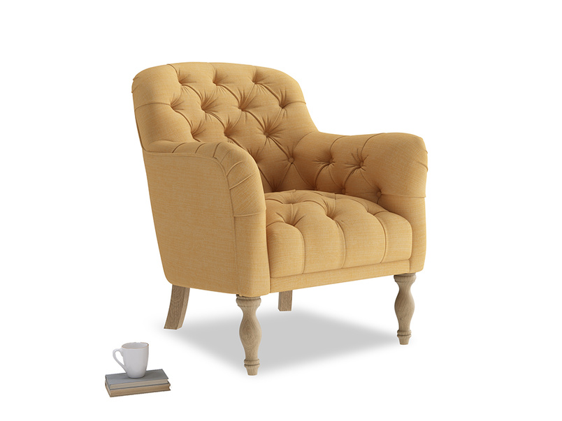 Reader Armchair in Honeycomb Clever Softie