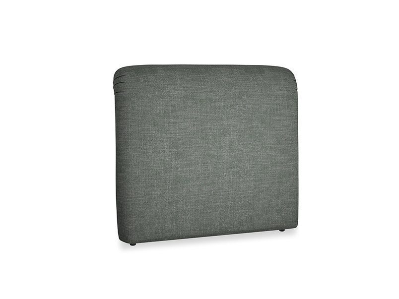 Double Cookie Headboard in Pencil Grey Clever Laundered Linen