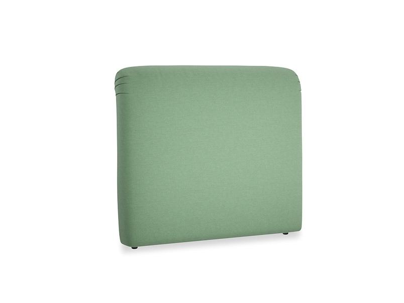 Double Cookie Headboard in Thyme Green Vintage Linen