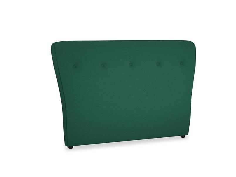 Double Smoke Headboard in Cypress Green Vintage Linen