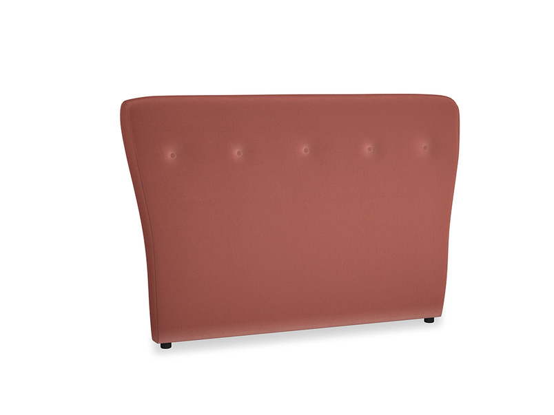 Double Smoke Headboard in Dusty Cinnamon Clever Velvet
