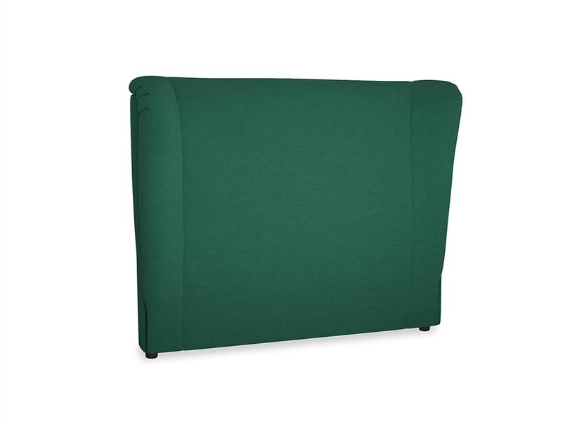 Double Hugger Headboard in Cypress Green Vintage Linen