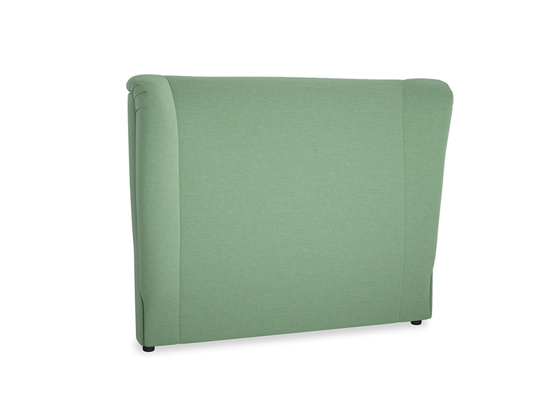 Double Hugger Headboard in Thyme Green Vintage Linen