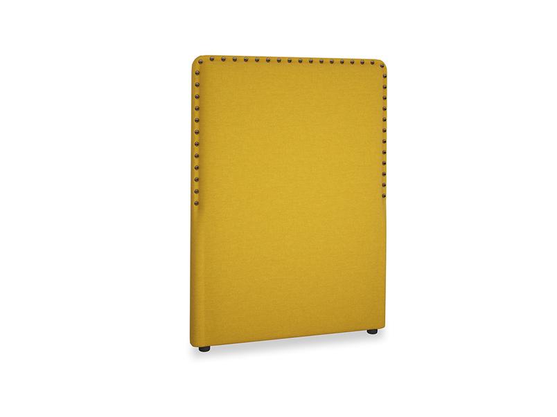 Single Smith Headboard in Yellow Ochre Vintage Linen