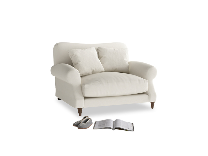 Crumpet Love seat in Chalky White Clever Softie