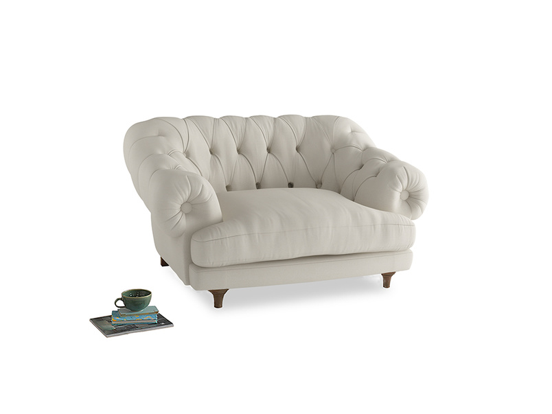 Bagsie Love Seat in Chalky White Clever Softie