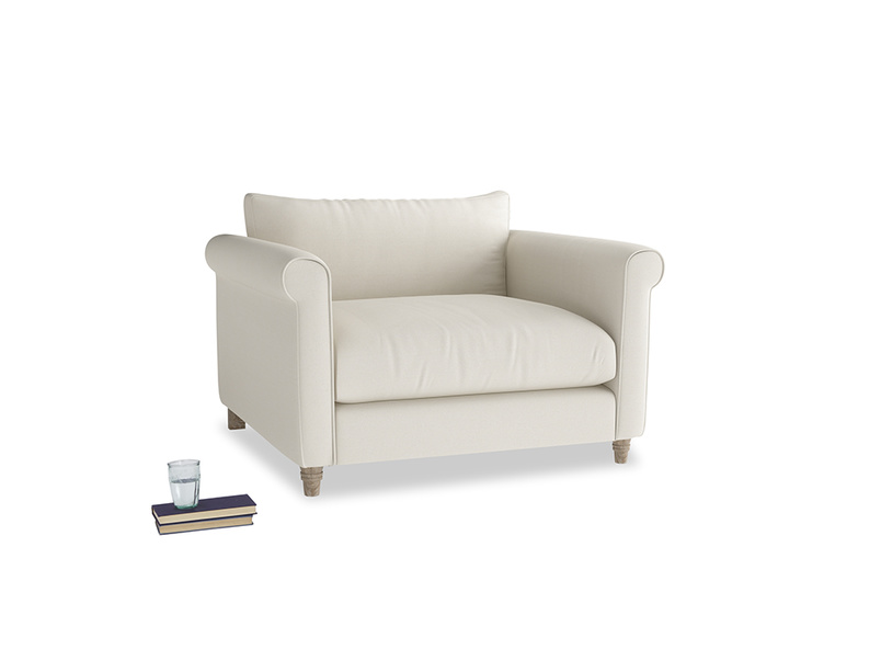 Weekender Love seat in Chalky White Clever Softie