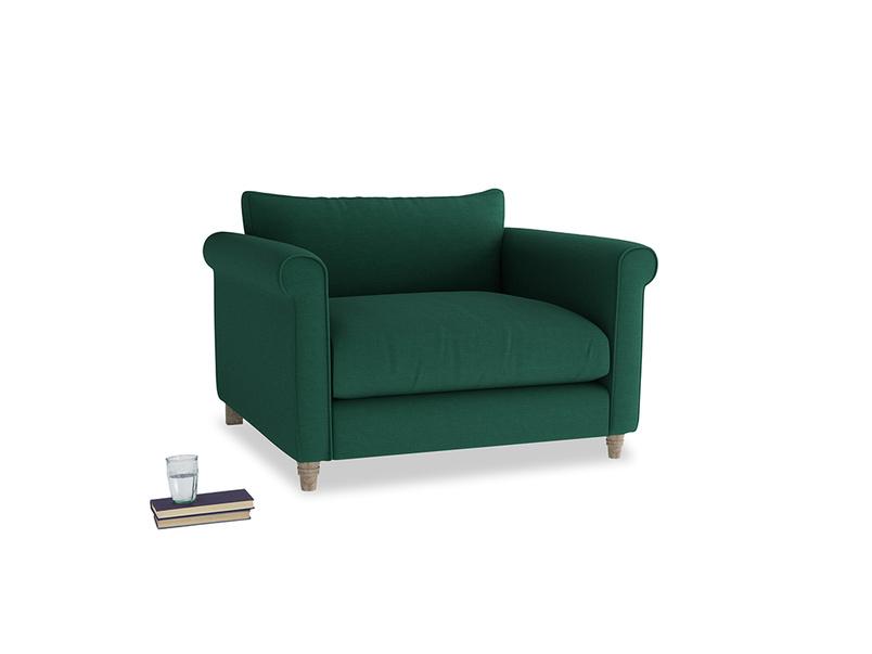 Weekender Love seat in Cypress Green Vintage Linen