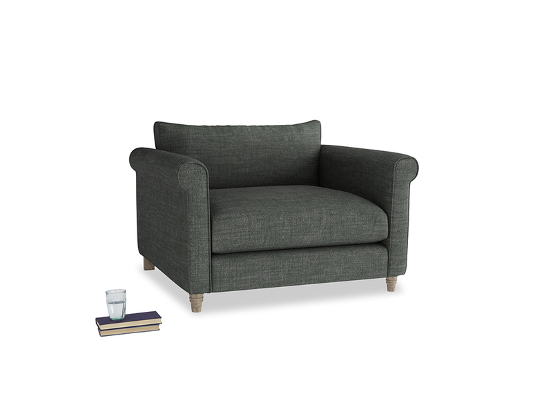 Weekender Love seat in Pencil Grey Clever Laundered Linen