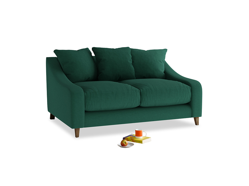 Small Oscar Sofa in Cypress Green Vintage Linen