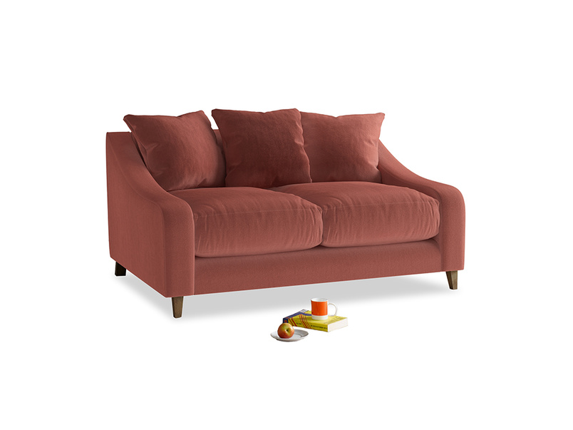 Small Oscar Sofa in Dusty Cinnamon Clever Velvet