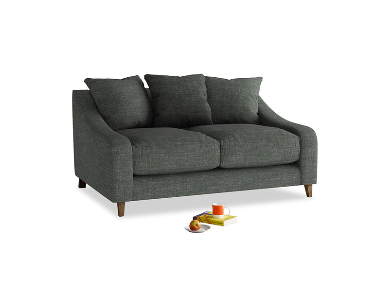 Small Oscar Sofa in Pencil Grey Clever Laundered Linen