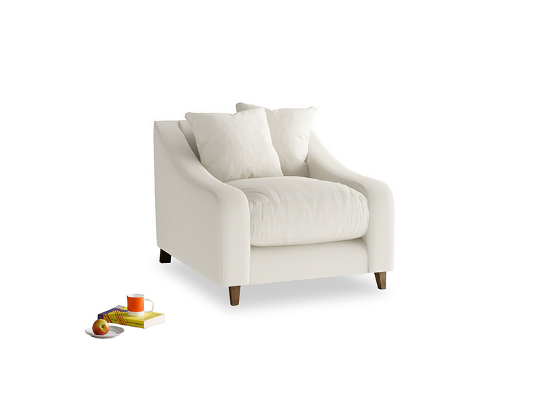 Oscar Armchair in Chalky White Clever Softie