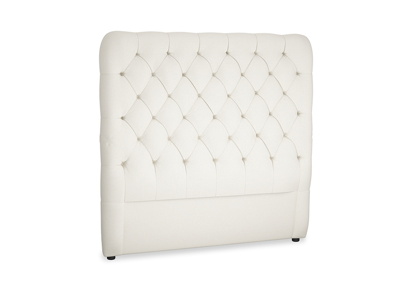 Double Tall Billow Headboard in Chalky White Clever Softie