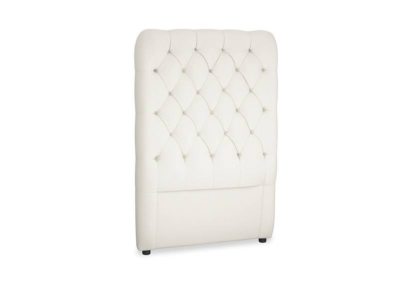 Single Tall Billow Headboard in Chalky White Clever Softie