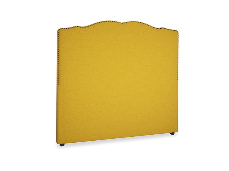 Double Marie Headboard in Yellow Ochre Vintage Linen