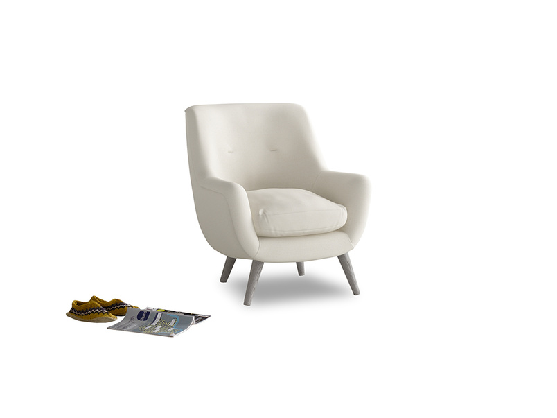 Berlin Armchair in Chalky White Clever Softie